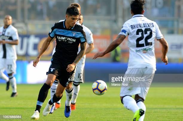 Joaquin Correa of SS Lazio during the Serie A match between Parma Calcio and SS Lazio at Stadio Ennio Tardini on October 21 2018 in Parma Italy