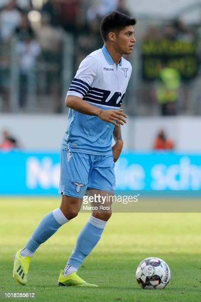 Joaquin Correa of SS Lazio in actin during the Borussia Dortmund v Lazio PreSeason Friendly at the Essen Stadium on August 12 2018 in Essen Germany