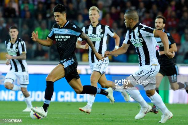 Joaquin Correa of SS lazio in action during the serie A match between Udinese and SS Lazio at Stadio Friuli on September 26 2018 in Udine Italy