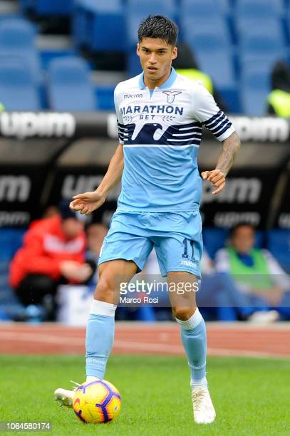 Joaquin Correa of SS Lazio in action during the Serie A match between SS Lazio and SPAL at Stadio Olimpico on November 4 2018 in Rome Italy