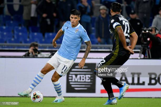 Joaquin Correa of SS Lazio in action during the Serie A match between SS Lazio and Parma Calcio at Stadio Olimpico on September 22 2019 in Rome Italy