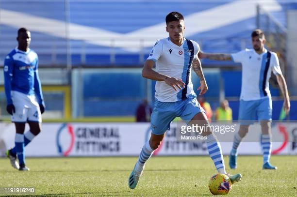 Joaquin Correa of SS Lazio in action during the Serie A match between Brescia Calcio and SS Lazio at Stadio Mario Rigamonti on January 5 2020 in...
