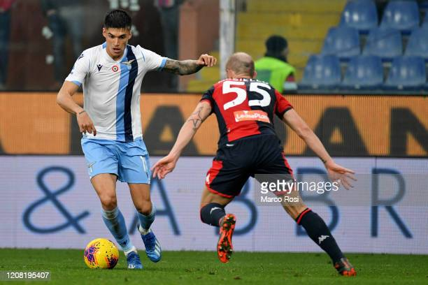 Joaquin Correa of SS lazio in action during the Serie A match between Genoa CFC and SS Lazio at Stadio Luigi Ferraris on February 23 2020 in Genoa...