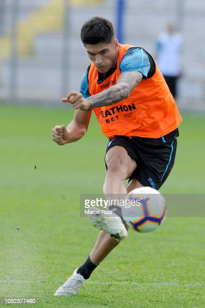 Joaquin Correa of SS Lazio in action SS Lazio training session on October 17 2018 in Rome Italy