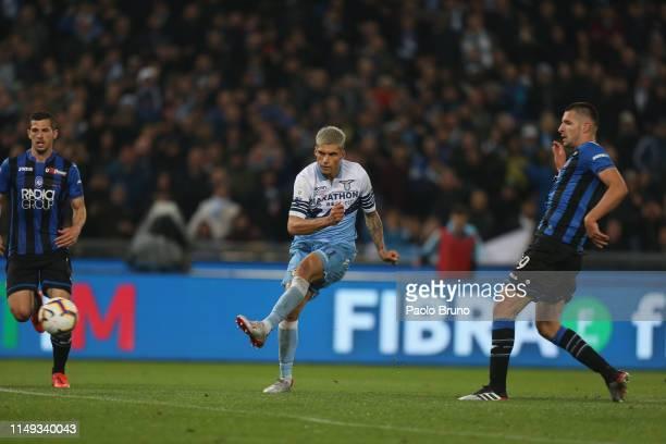 Joaquin Correa of SS Lazio kicks the ball during the TIM Cup Final match between Atalanta BC and SS Lazio at Stadio Olimpico on May 15 2019 in Rome...