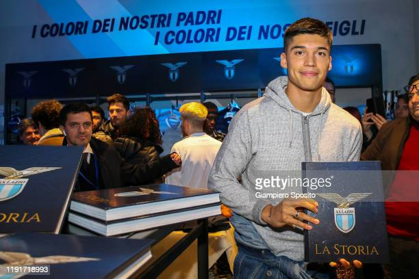 Joaquin Correa of SS Lazio poses for a photo during the SS Lazio Store Opening ceremony on December 03 2019 in Rome Italy