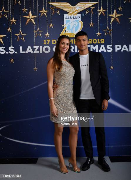 Joaquin Correa of SS Lazio poses with his wife during the SS Lazio xmas dinner at SpazioNovecento on December 17 2019 in Rome Italy