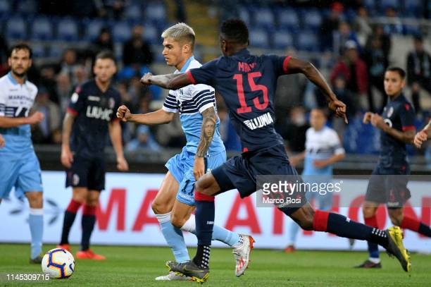 Joaquin Correa of SS lazio scores a opening goal during the Serie A match between SS Lazio and Bologna FC at Stadio Olimpico on May 20 2019 in Rome...