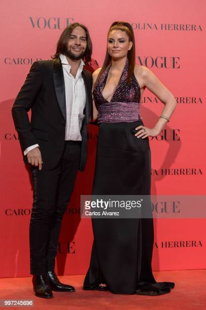 Joaquin Cortes and guest attend Vogue 30th Anniversary Party at Casa Velazquez on July 12, 2018 in Madrid, Spain.