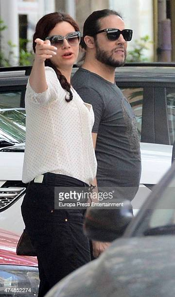 Joaquin Cortes and Monica Moreno are seen on May 12, 2015 in Madrid, Spain.