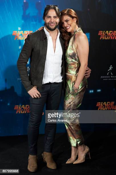 Joaquin Cortes and Monica Moreno attend 'Blade Runner 2049' premiere at the Callao cinema on October 5, 2017 in Madrid, Spain.