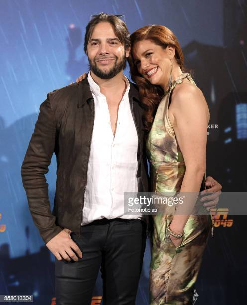 Joaquin Cortes and Monica Moreno attend the 'Blade Runner 2049' premiere at the Callao City Lights cinema on October 5, 2017 in Madrid, Spain.
