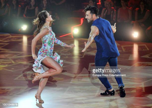 Joaquin Cortes and Monica Moreno during 'Bailando con las estrellas' TVE programme on July 17 2018 in Barcelona Spain