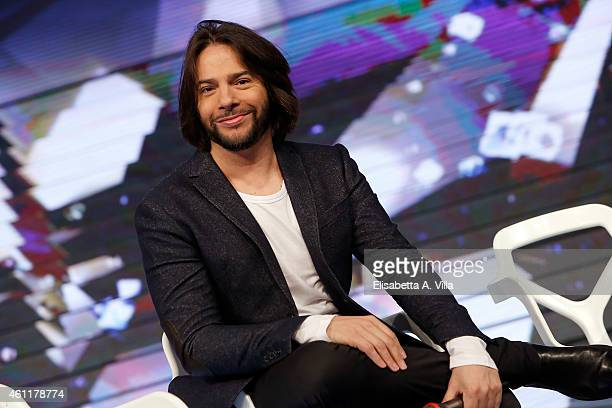 Joaquin Cortes attends 'Forte Forte Forte' TV show photocall at RAI Voxon Studios on January 8, 2015 in Rome, Italy.