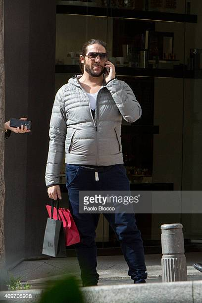 Joaquin Cortes is seen shopping on April 14, 2015 in Madrid, Spain.