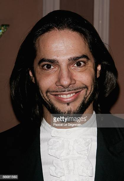 """Joaquin Cortez poses as he attends the launch of the new Chopard campaign """"Kind of Magic"""" during the Paris Fashion week on January 26, 2006 in Paris,..."""