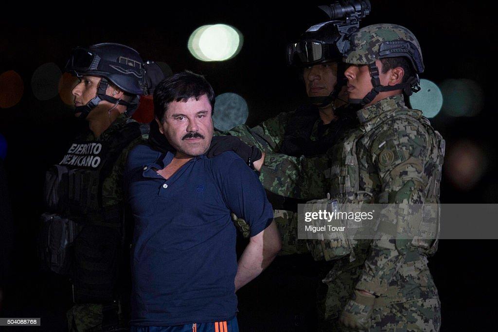 Mexican Drug Dealer Joaquin 'El Chapo' Guzman is Captured in Mexico : News Photo