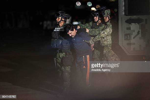 "Joaquin Guzman Loera, also known as ""El Chapo"" is transported to Maximum Security Prison of El Altiplano in Mexico City, Mexico on January 08, 2016...."