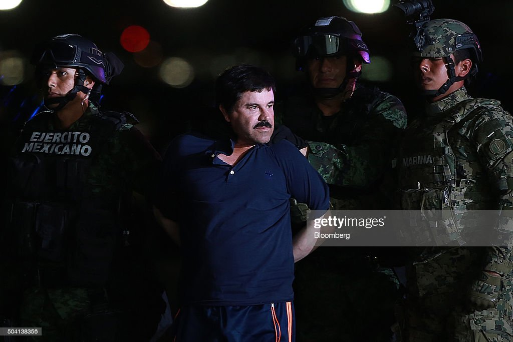 "Drug Kingpin Joaquin ""Chapo"" Guzman Recaptured By Mexican Authorities : News Photo"