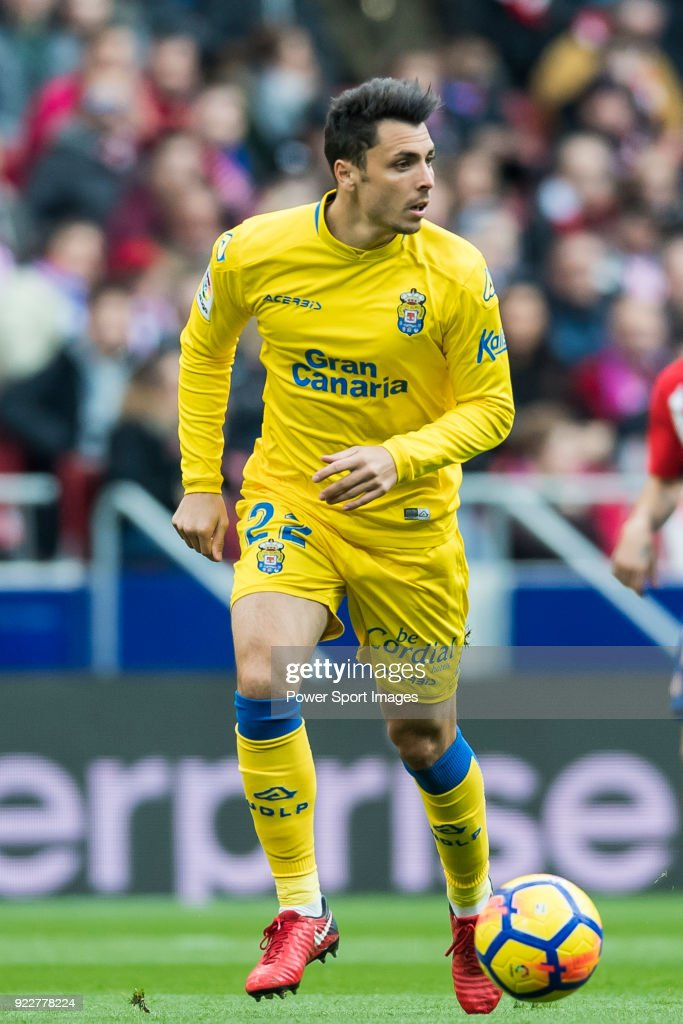 Joaquin Navarro Jimenez, Ximo, of UD Las Palmas in action during the La Liga 2017-18 match between Atletico de Madrid and UD Las Palmas at Wanda Metropolitano on January 28 2018 in Madrid, Spain.