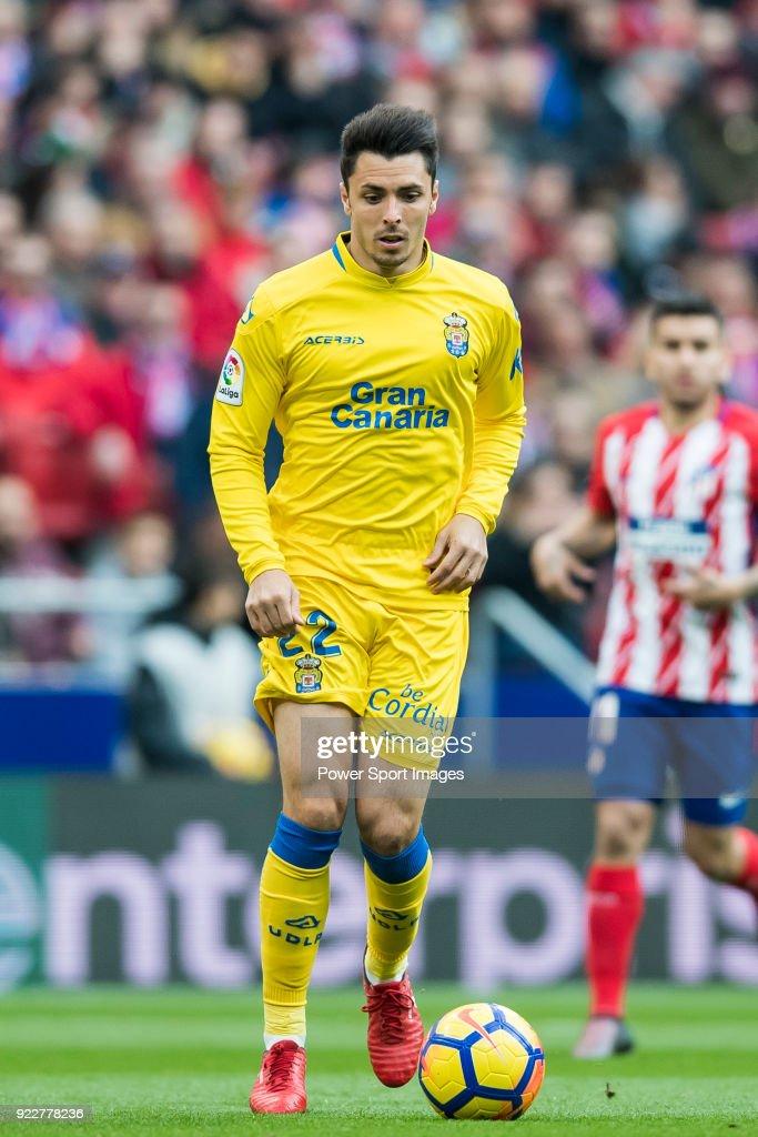 Joaquin Navarro Jimenez, Ximo, of UD Las Palmas in action during the La Liga 2017-18 match between Atletico de Madrid and UD Las Palmas at Wanda Metropolitano on January 28 2018 in Madrid, Spain.