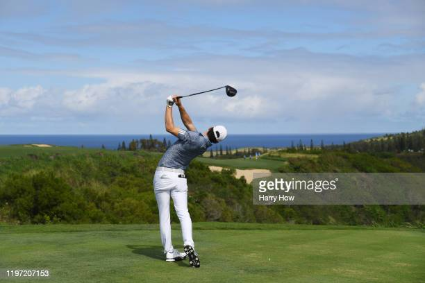 Joaquin Niemann of Chile plays his shot from the sixth tee during the first round of the Sentry Tournament Of Champions at the Kapalua Plantation...