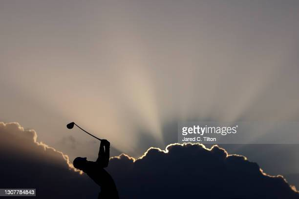 Joaquin Niemann of Chile plays his shot from the tenth tee during the first round of The Honda Classic at PGA National Champion course on March 18,...