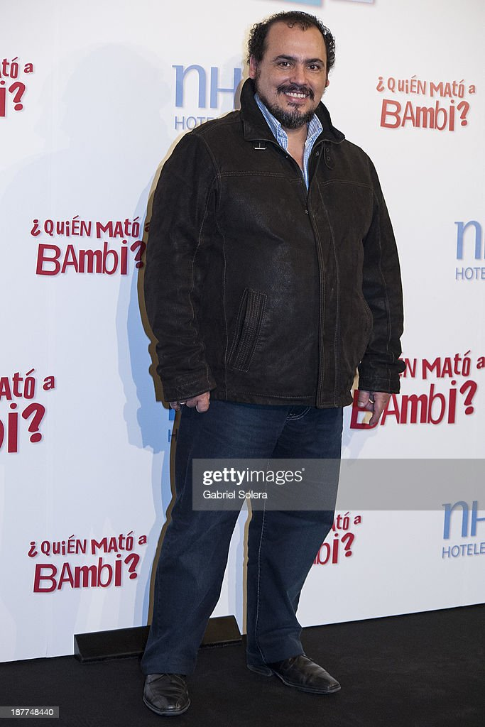 Joaquin Nunez attends the '¿Quien Mato a Bambi?' photocall at Hesperia Emperatriz Hotel on November 12, 2013 in Madrid, Spain.