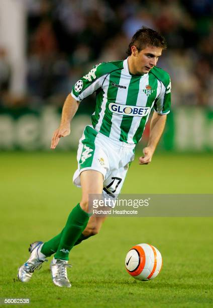 Joaquin of Betis during the UEFA Champions League group G match between Real Betis and Chelsea at the Ruiz de Lopera Stadium on November 1 2005 in...