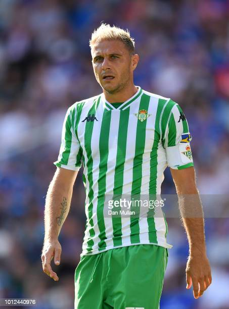 Joaquin of Real Betis looks on during the PreSeason Friendly match between Cardiff City and Real Betis at Cardiff City Stadium on August 4 2018 in...