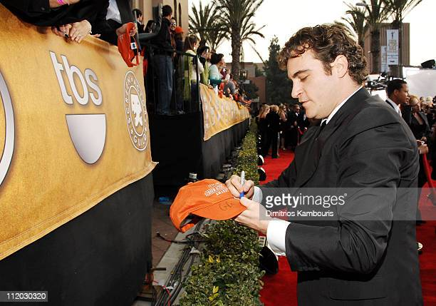 Joaquin Phoenix 10618_dk0043.JPG during TNT Broadcasts 12th Annual Screen Actors Guild Awards - Red Carpet at Shrine Expo Hall in Los Angeles,...