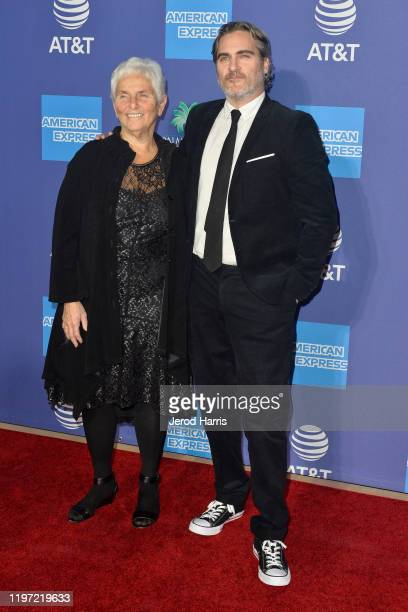 Joaquin Phoenix and Arlyn Phoenix arrive at the 2020 Annual Palm Springs International Film Festival Film Awards Gala on January 02 2020 in Palm...