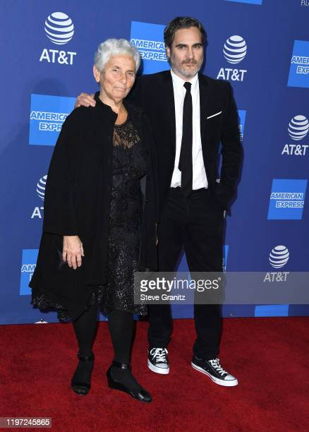 Joaquin Phoenix and Arlyn Phoenix arrives at the Annual Palm Springs International Film Festival Film Awards Gala on January 02 2020 in Palm Springs...