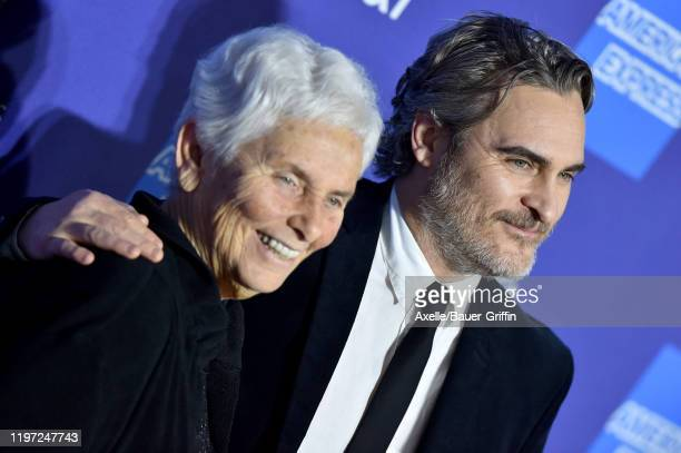 Joaquin Phoenix and Arlyn Phoenix attend the 2020 Annual Palm Springs International Film Festival Film Awards Gala on January 02 2020 in Palm Springs...