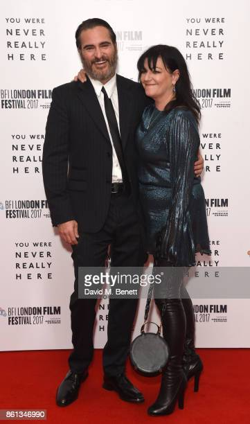 Joaquin Phoenix and director Lynne Ramsay attend the Headline Gala Screening UK Premiere of 'You Were Never Really Here' during the 61st BFI London...