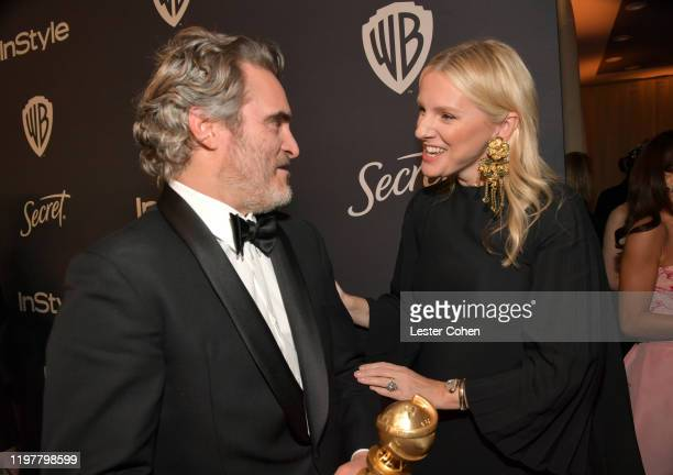 Joaquin Phoenix and Editor in Chief of InStyle Magazine Laura Brown attend The 2020 InStyle And Warner Bros 77th Annual Golden Globe Awards PostParty...