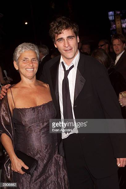 Joaquin Phoenix and his mother Heart arrive at the Vanity Fair Oscar Party at Morton's following the 73rd Annual Academy Awards in Los Angeles CA...