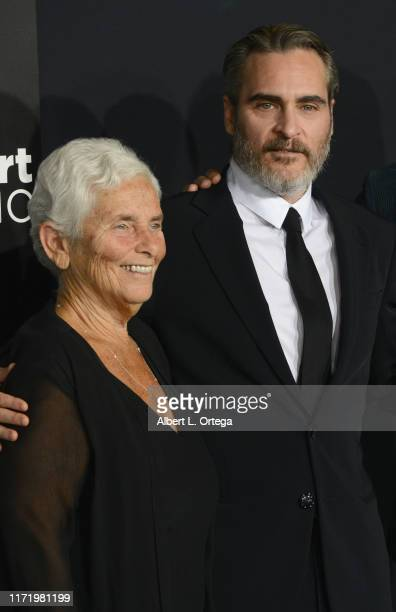 Joaquin Phoenix and mother Arlyn Phoenix arrive for the Premiere Of Warner Bros Pictures Joker held at TCL Chinese Theatre IMAX on September 28 2019...