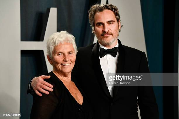 Joaquin Phoenix and mother Arlyn Phoenix attend the 2020 Vanity Fair Oscar Party hosted by Radhika Jones at Wallis Annenberg Center for the...