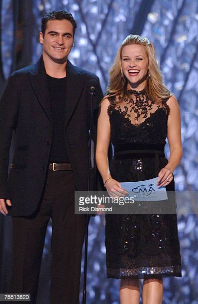 Joaquin Phoenix and Reese Witherspoon presenters at the Madison Square Garden in New York City New York