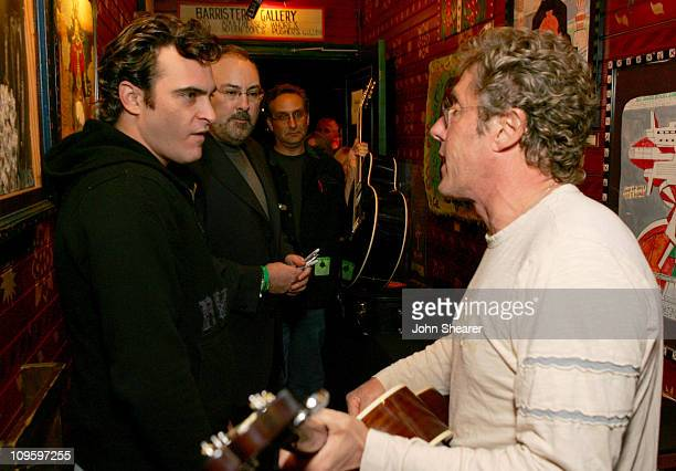 Joaquin Phoenix and Roger Daltrey of The Who during Rock 'n Roll Fantasy Camp to Benefit the Teenage Cancer Trust - February 20, 2006 at House of...