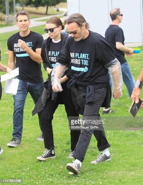 Joaquin Phoenix and Rooney Mara are seen on June 02 2019 in Los Angeles California