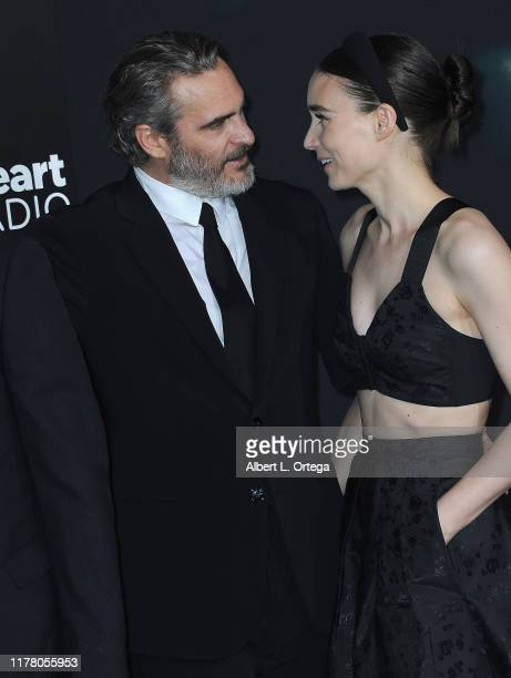 Joaquin Phoenix and Rooney Mara arrive for the Premiere Of Warner Bros Pictures Joker held at TCL Chinese Theatre IMAX on September 28 2019 in...