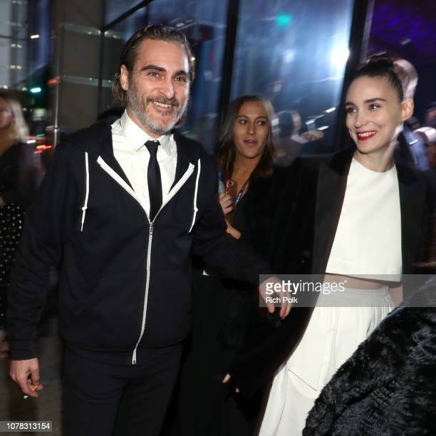 Joaquin Phoenix and Rooney Mara attend Michael Muller's HEAVEN presented by The Art of Elysium on January 5 2019 in Los Angeles California