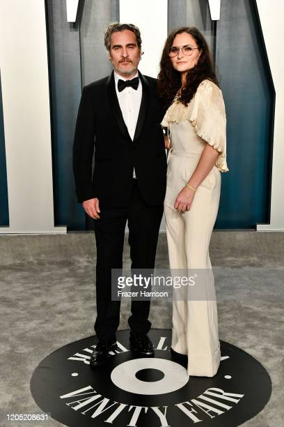 Joaquin Phoenix and sister Rain Phoenix attend the 2020 Vanity Fair Oscar Party hosted by Radhika Jones at Wallis Annenberg Center for the Performing...
