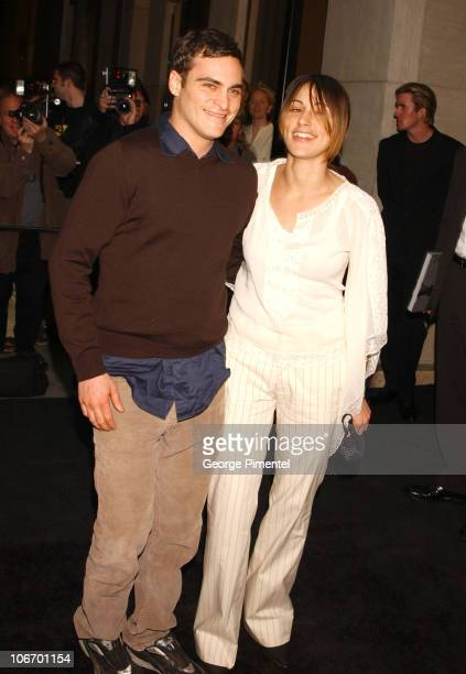 Joaquin Phoenix and Summer Phoenix during Tom Ford Hosts a Party For Renowned Celebrity Photographer Ron Galella And His New Book at Gucci /Radeo...