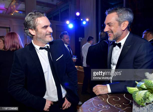 Joaquin Phoenix and Todd Phillips attend the After Party for the 31st Annual Palm Springs International Film Festival Film Awards Gala at Palm...