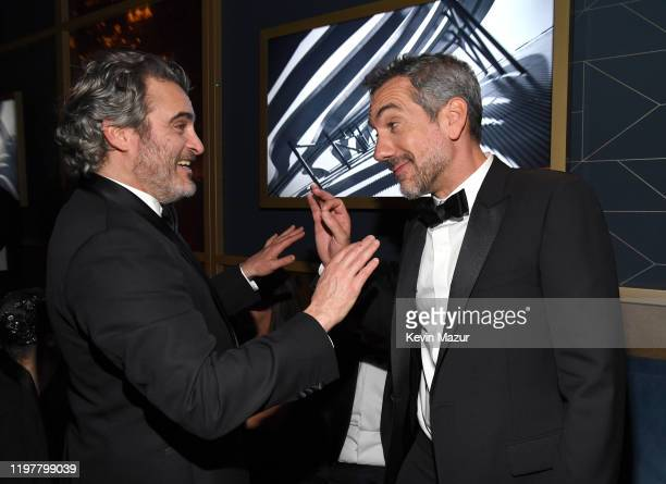 Joaquin Phoenix and Todd Phillips attends The 2020 InStyle And Warner Bros 77th Annual Golden Globe Awards PostParty at The Beverly Hilton Hotel on...