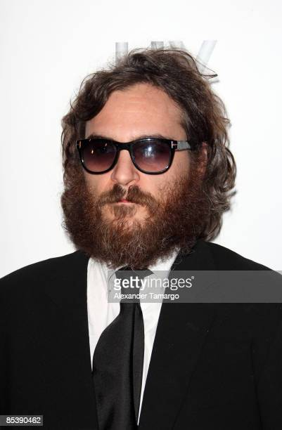 Joaquin Phoenix arrives at LIV Nightclub at Fontainebleau Miami Beach on March 11 2009 in Miami Beach Florida