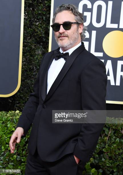 Joaquin Phoenix arrives at the 77th Annual Golden Globe Awards attends the 77th Annual Golden Globe Awards at The Beverly Hilton Hotel on January 05...